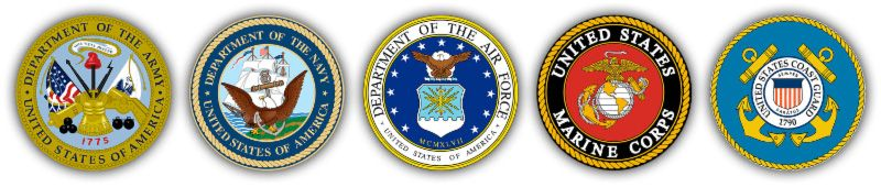 5 military branches logos